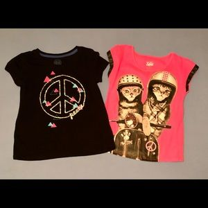 Lot of 2 little girls tops size 12